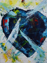 Heart Experiences, an abstract painting copyright Mark Dahle 2010