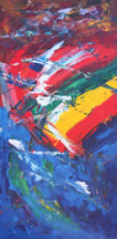 Mexico needs great leaders, an abstract painting in the Hidden Prayer series, copyright Mark Dahle 2010