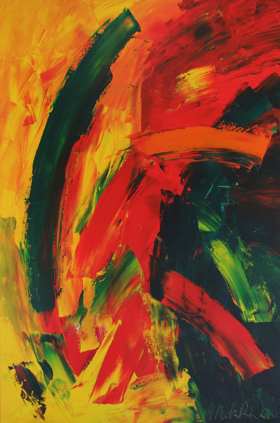 Abstract painting from the Museum Heritage Collection, copyright Mark Dahle 2011.